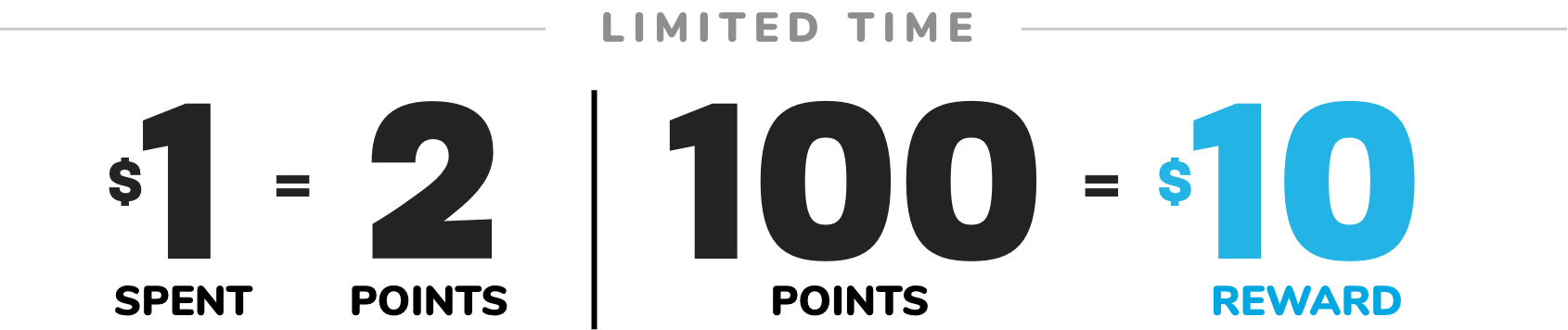 DOUBLE REWARDS   LIMITED TIME