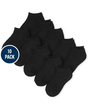 Unisex Kids Ankle Socks 10-Pack