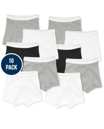 Boys Boxer Briefs 10-Pack