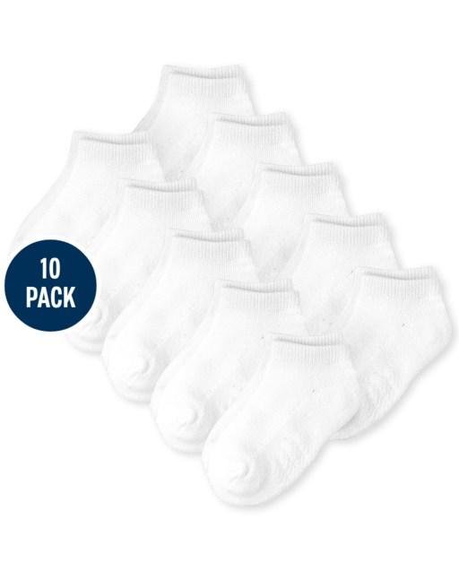 Calcetines tobilleros unisex para bebés y niños pequeños, paquete de 10