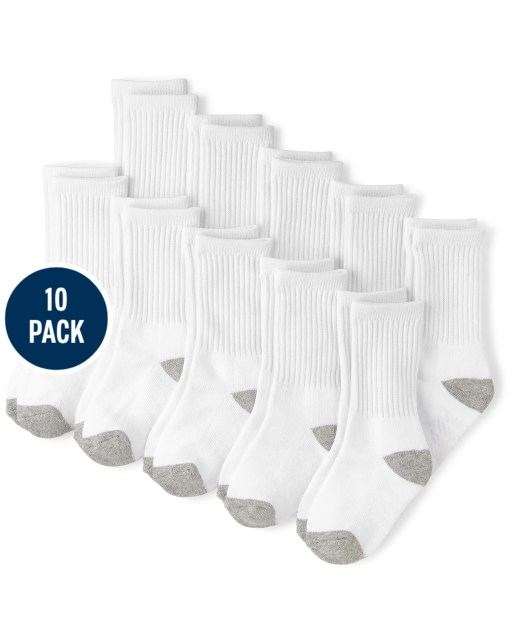 Baby And Toddler Boys Crew Socks 10-Pack