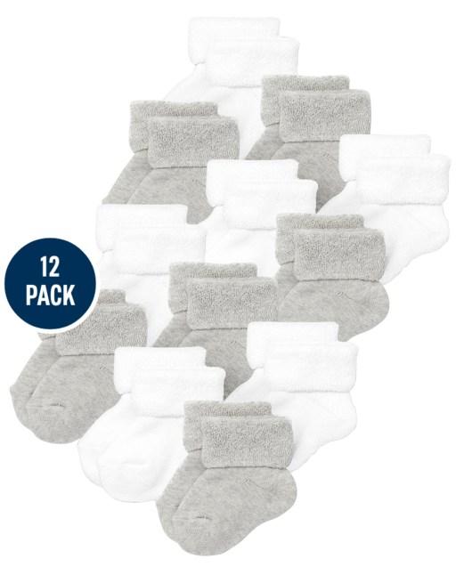 Unisex Baby Turn Cuff Socks 12-Pack
