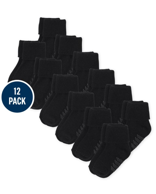 Unisex Baby And Toddler Triple Roll Socks 12-Pack