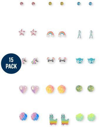 Girls Animal Earrings 15-Pack