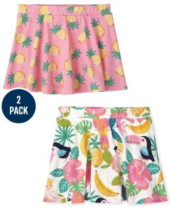 2-Pack Toddler Girls Print Skort