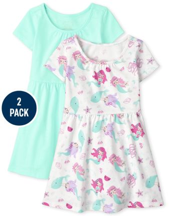2-Pack The Childrens Place Toddler Girls Skater Dress
