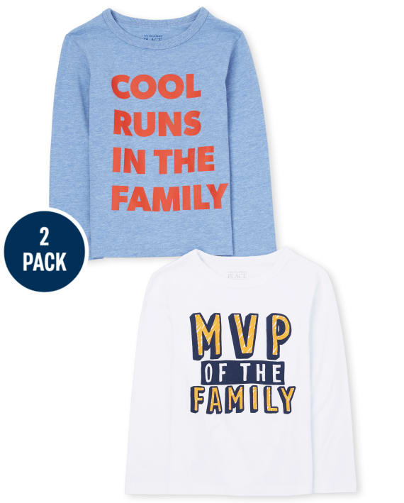 2-Pack Baby And Toddler Boys Family Graphic Tee