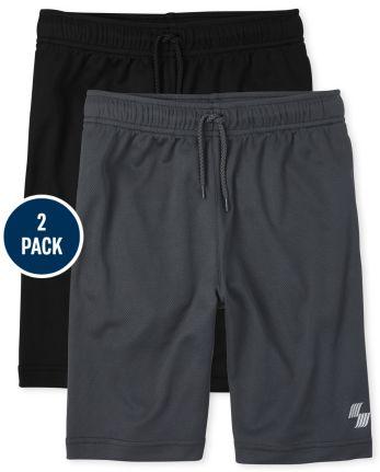 Boys Mesh Performance Basketball Shorts 2-Pack