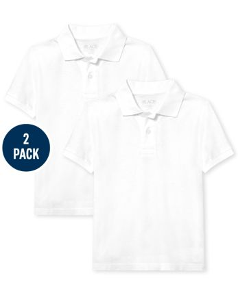Pack de 2 polos de piqué de uniforme para niños
