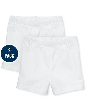 Toddler Girls Cartwheel Shorts 2-Pack