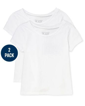 Toddler Girls Uniform Basic Layering Tee 2-Pack