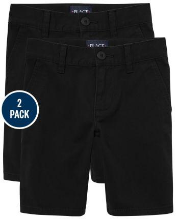 Girls Uniform Stretch Chino Shorts 2-Pack