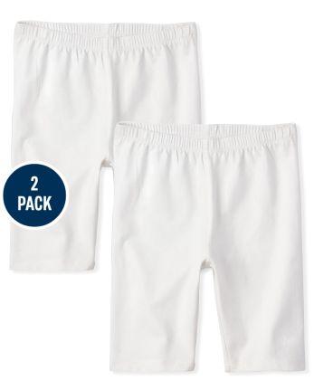 Girls Bike Shorts 2-Pack