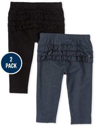Baby Girls Ruffle Pants 2-Pack