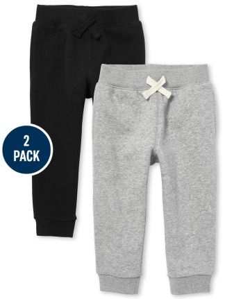 Baby And Toddler Boys Uniform Active Fleece Jogger Pants 2-Pack