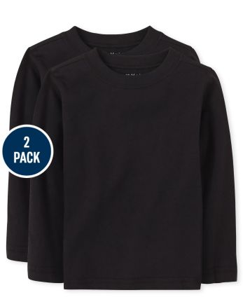Baby And Toddler Boys Basic Layering Tee 2-Pack