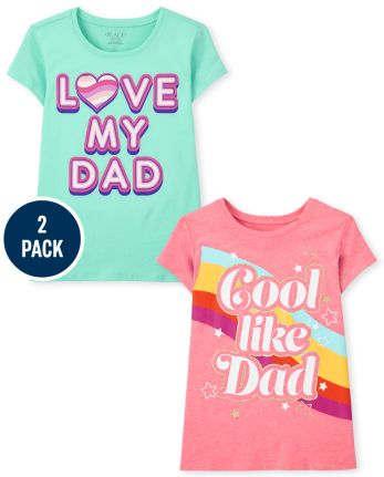Girls Dad Graphic Tee 2-Pack