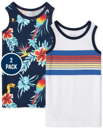 Boys Tropical Tank Top 2-Pack