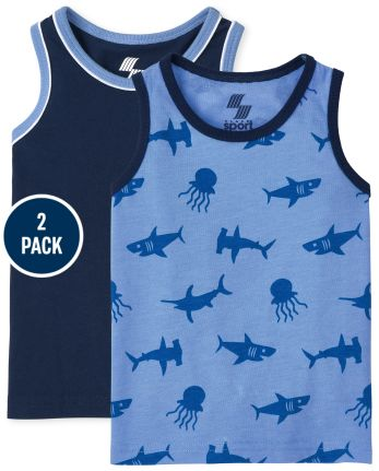 Toddler Boys Ocean Tank Top 2-Pack
