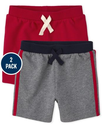 Toddler Boys French Terry Shorts 2-Pack