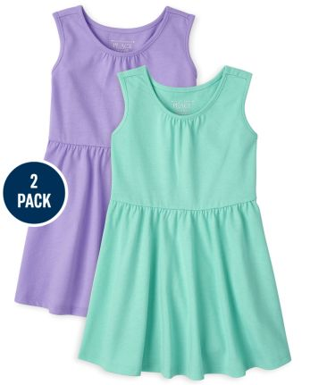 Toddler Girls Tank Dress 2-Pack