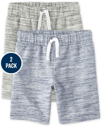 Boys French Terry Shorts 2-Pack