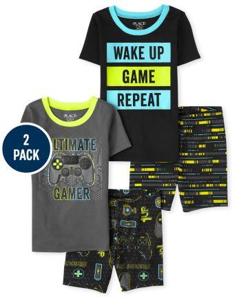 Boys Video Game Snug Fit Cotton Pajamas 2-Pack