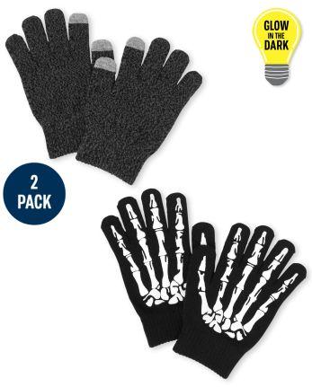 Boys Skeleton Texting Gloves