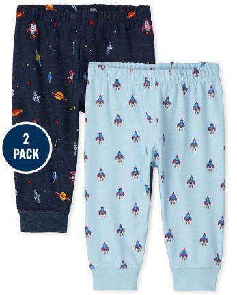 Baby Boys Space Pants 2-Pack