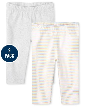 Unisex Baby Striped Pants 2-Pack