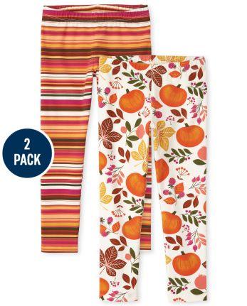 Girls Print Leggings 2-Pack