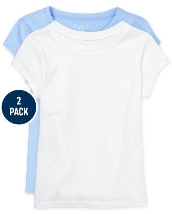 Girls Basic Layering Tee 2-Pack