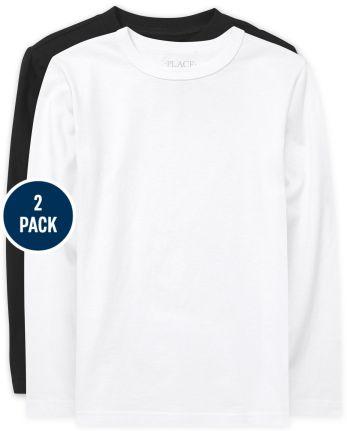 Boys Uniform Basic Layering Tee 2-Pack