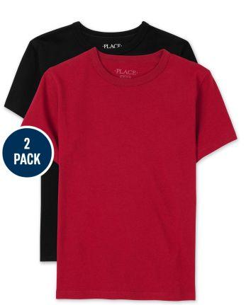 Paquete de 2 camisetas básicas de uniforme para niños