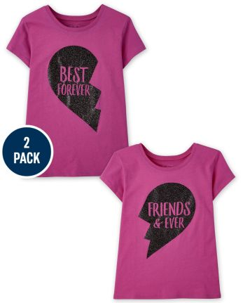 Girls BFF Graphic Tee 2-Pack