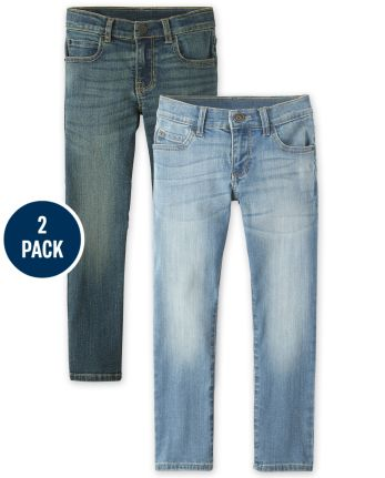 Boys Stretch Straight Jeans 2-Pack