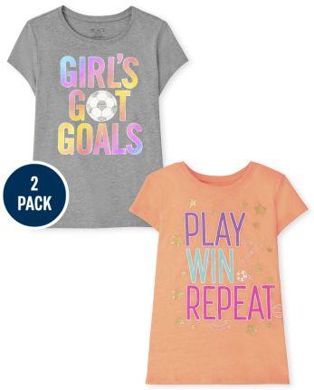 Girls Sport Graphic Tee 2-Pack