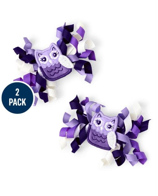 Paquete de 2 pinzas para el pelo rizado para niñas - Whooo ' s Cute