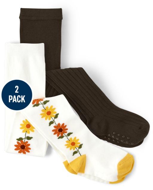 Pack de 2 mallas lisas y girasol para niñas - Harvest