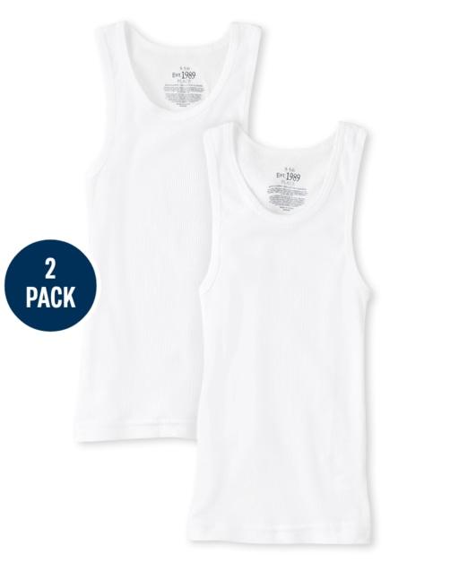 Boys Uniform Tank Top 2-Pack