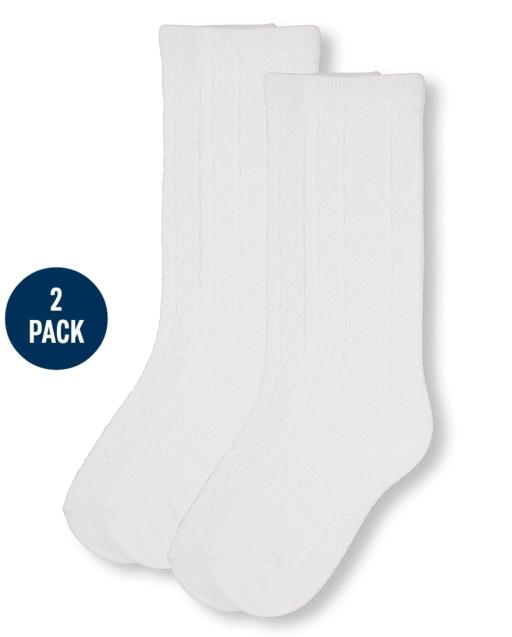 Pack de 2 calcetines hasta la rodilla de uniforme para niñas