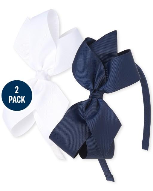 Paquete de 2 diademas con lazo de uniforme para niñas