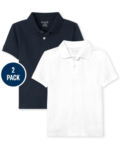 Pack includes 2 short sleeve pique polos