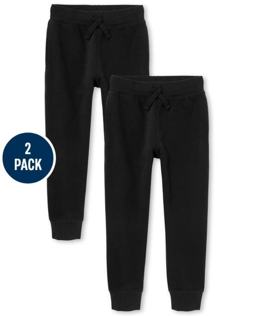 Paquete de 2 pantalones de chándal de polar de uniforme para niños
