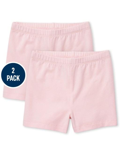 Toddler Girls Knit Cartwheel Shorts 2-Pack
