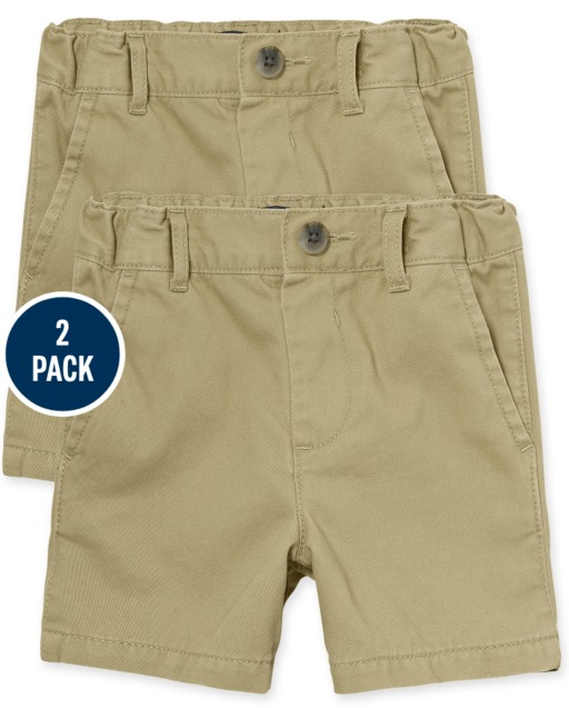Baby And Toddler Boys Uniform Woven Chino Shorts 2-Pack