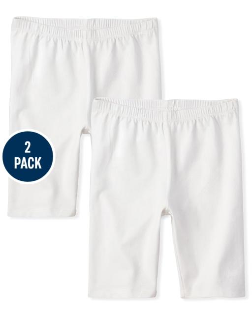 Girls Knit Bike Shorts 2-Pack