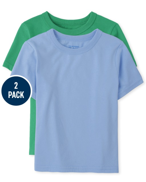 Baby And Toddler Boys Short Sleeve Basic Layering Tee 2-Pack