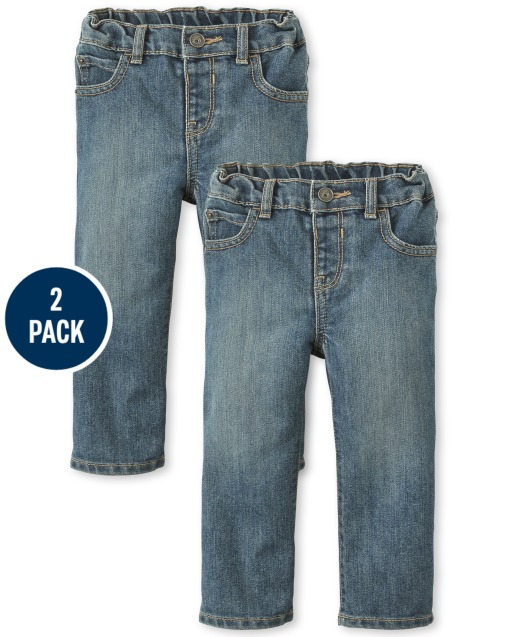Baby And Toddler Boys Basic Bootcut Jeans 2-Pack