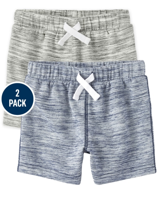 Baby And Toddler Boys French Terry Knit Shorts 2-Pack